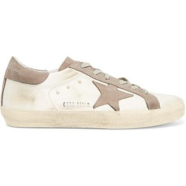 Golden Goose Deluxe Brand - Super Star distressed satin and suede sneakers
