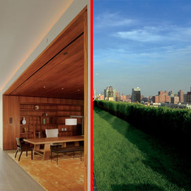 John Pawson - Ian Schrager's librairy and terrasse, Penthouse, New York