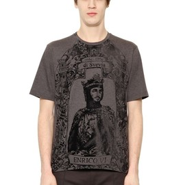 DOLCE&GABBANA - FW2014 ENRICO VI FLOCKED COTTON T-SHIRT