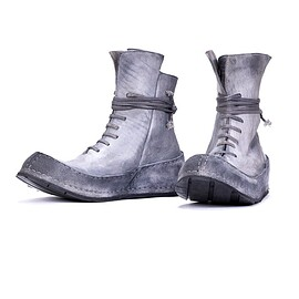 Pollacki - Distressed grey high top sneakers -unconventional