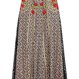 Temperley London - Antila embroidered cotton-blend lace maxi skirt