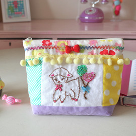Curly Collection - Fabric ribbon pouch♥メリー
