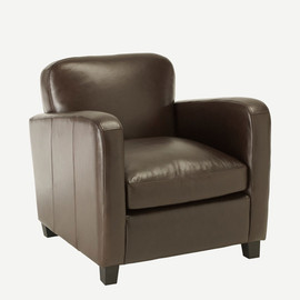 THE CONRAN SHOP - OLIVER LEATHER CLUB CHAIR