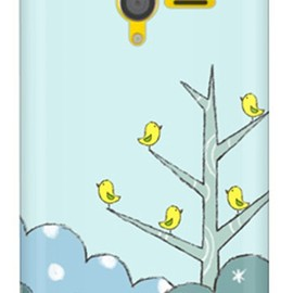 SECOND SKIN - uistore 「Tree of Bird (Blue)」 / for PANTONE 6 200SH/SoftBank