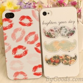 Sexy Lipstick Beard Hard Iphone Case For Iphone 4/4s/5