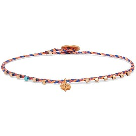 SCOSHA - Easy Going woven, gold-plated, turquoise and diamond bracelet