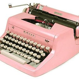 Royal - Vintage Pink Royal Typewriter