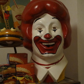 McDonald's - ronald head&hamburger lamp
