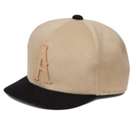 analog lighting - A Cashmere Wool BB Cap (beige×black)
