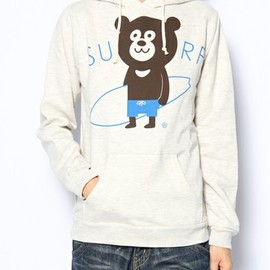 BEAMS T - The Wonderful! design works. / SURF BEAR HOODY