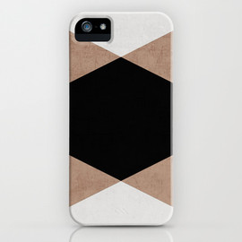 society6 - natural, cream and black triangles iPhone & iPod Case