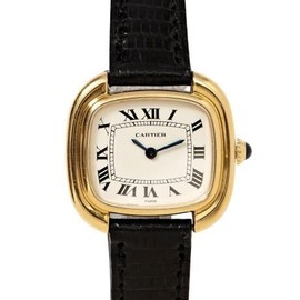 "Cartier - 18K Yellow Gold  ""Square Ellipse"""