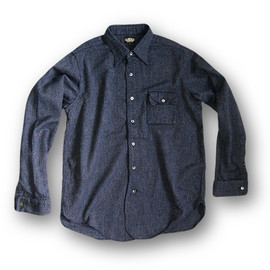 BLACK SIGN -  Grand Lodge Diamond Chambray Shirt  Diamond Blue