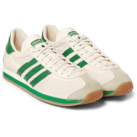 Adidas Originals - Country OG Suede and Leather-Trimmed Canvas Sneakers