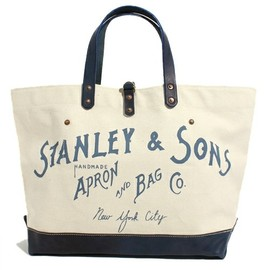 STANLEY&SONS - STANLEY&SONS ロゴキャンパス トート