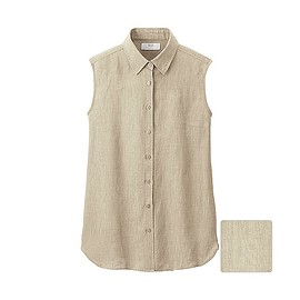 UNIQLO - Premium Linen Sleeveless Shirt