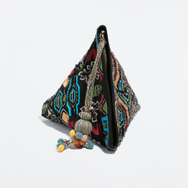 ZARA - PYRAMID HAND EMBROIDERY WALLET