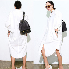Korean and Japaness Style brief Solid White color Cotton blouses ,