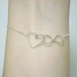 by philippe - by philippe ( バイ フィリップ )  infinite love gold filled bracelet   無限 ハート \^^/ ブレスレット S  ☆