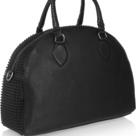 Christian Louboutin - Panattone studded textured-leather tote