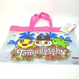 Tamagotchi - NEW-TamaGotchi-Vinyl-hand-Bag-Shopper-2004-Bandai-Japan