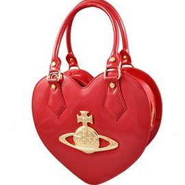 Vivienne Westwood - Large LOGO Heart Handbag/Bags Red
