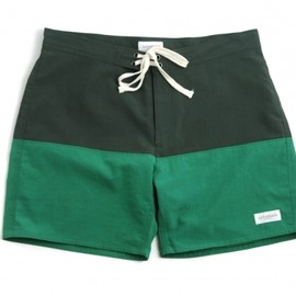 Saturdays Surf NYC - Saturdays Surf NYC Ennis Board Shorts Dark Green