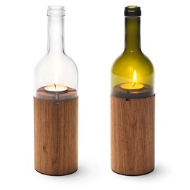 grassrootsmodern.com - wood and wine bottles