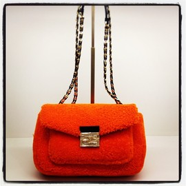 Fendi - Electric orange fur bag