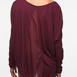 URBAN OUTFITTERS - Sparkle & Fade Oversized Thermal Top
