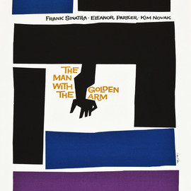 "Saul Bass - ""The man with the golden arm"" (1955) one sheet movie poster"