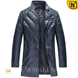 CWMALLS - CWMALLS® Mens Leather Down Jacket CW806110