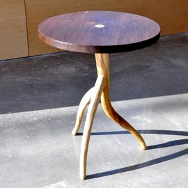 StudioLiscious - Branch End Table - Rustic Modern, solid wood, occasional table