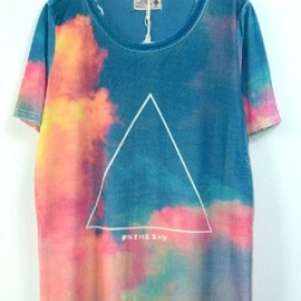 sky-triangle T-shirt
