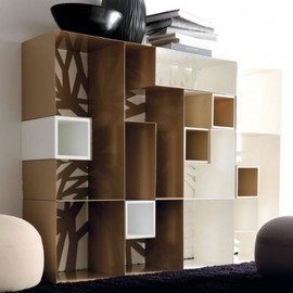 Domino by Esendra - natural container painted wood Studios Batoni