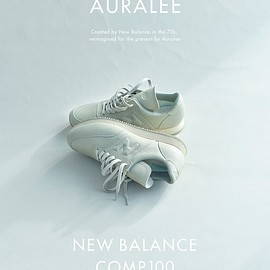 AURALEE, NEW BALANCE - AURALEE X NEW BALANCE COMP 100 LIGHT GRAY