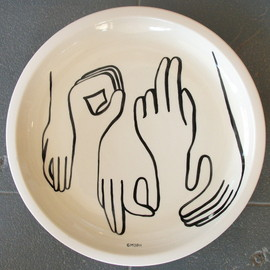 Heath Ceramics x Geoff McFetridge's - platter