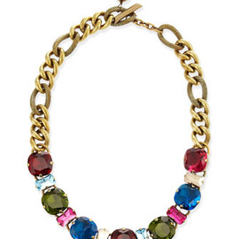 Lanvin - Multicolor Crystal Necklace
