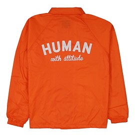 Human With Attitude - HWA ARCH LOGO COACH Jacket - ORANGE