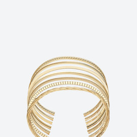 Saint Laurent - gold-vermeil bangles