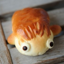 Adorable ponyo bread! Studio ghibli food