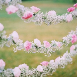 flower - Floral garlands made of roses and baby's breath