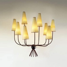 Jean Royere - 'Hirondelles'' nine-branch wall light