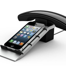 Cyanics - Wireless Bluetooth Handset and Phone stand for iPhone