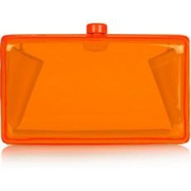 STELLA McCARTNEY - Alice Neon Resin Box Clutch
