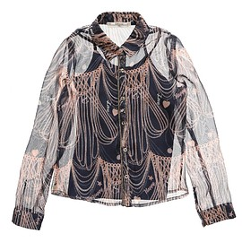 Girls Grey Satin 'Badi' Blouse