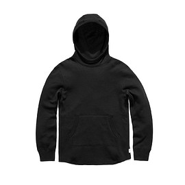 Reigning Champ - Mesh Fleece Pullover Hoodie - Black