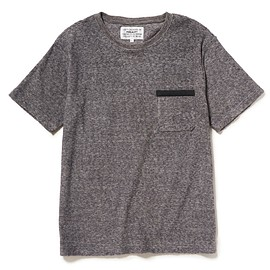PEEL&LIFT - towelling pocket tee shirt / GREY