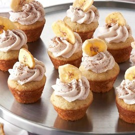 Mocha-Filled Banana Cupcakes