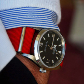 ROLEX - Explorer with Red Nato Strap